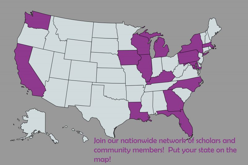 A map of all of the states where society members reside